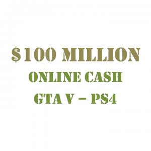 $100 Million Online Cash GTA 5 PS4