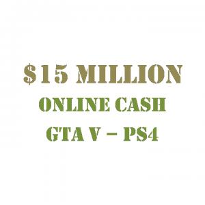$15 Million Online Cash GTA 5 PS4