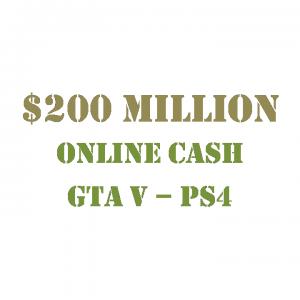 $200 Million Online Cash GTA 5 PS4