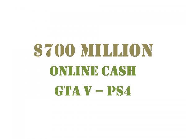 $700 Million Online Cash GTA 5 PS4