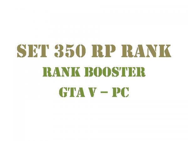 GTA 5 PC Rank Booster Set 350 RP Rank