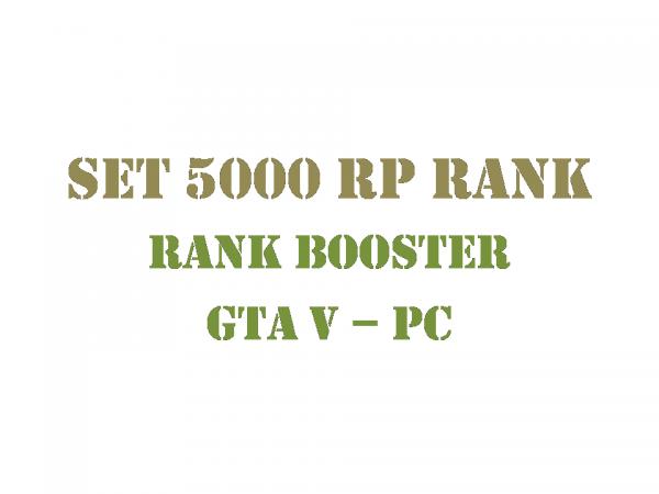 GTA 5 PC Rank Booster Set 5000 RP Rank