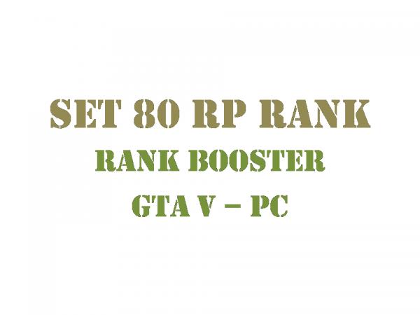 GTA 5 PC Rank Booster Set 80 RP Rank